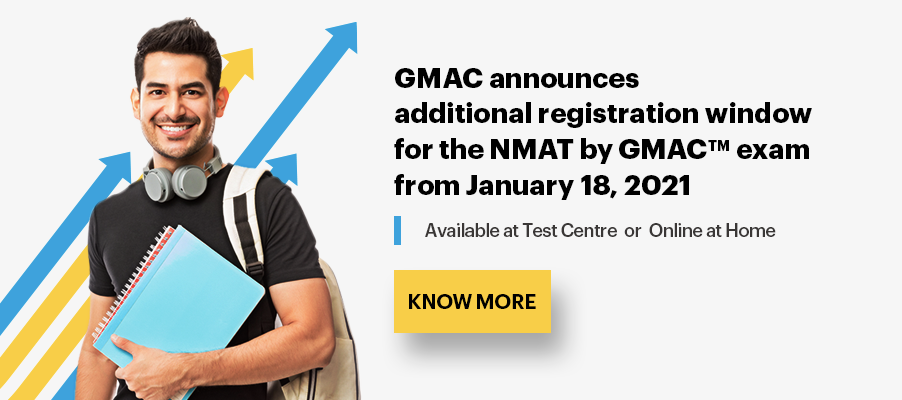 GMAC announces additional registration window for the NMAT by GMAC exam from January 18, 2021