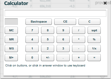 Calculator for Next Gen GMAT exam.
