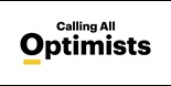 Calling all optimists logo black and yellow