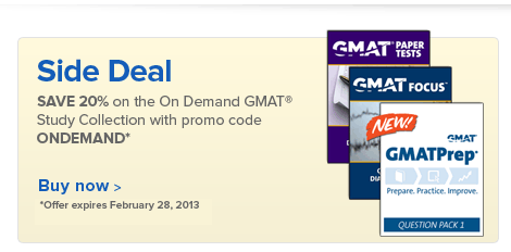 side deal on demand gmat collection