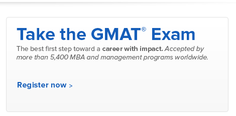Register for the GMAT exam today