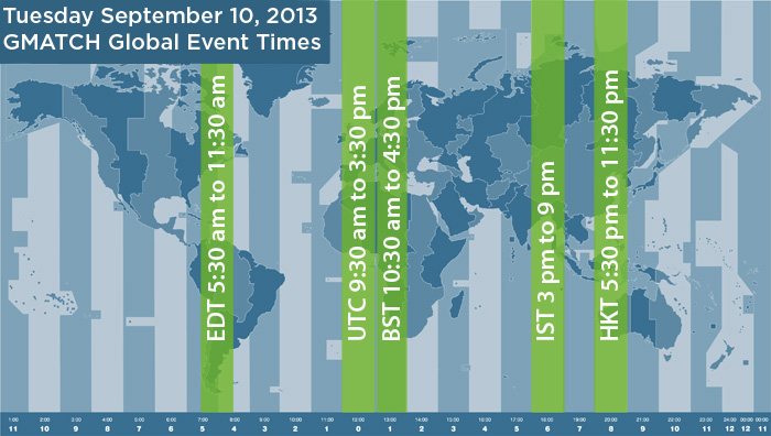 GMATCH Event Hours - October 10th, 2012